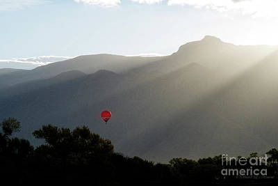 Balloon At Sunrise Art Print