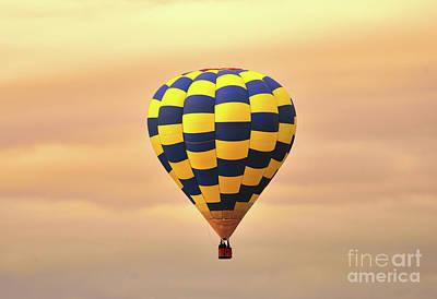 Balloon At Sunrise Art Print