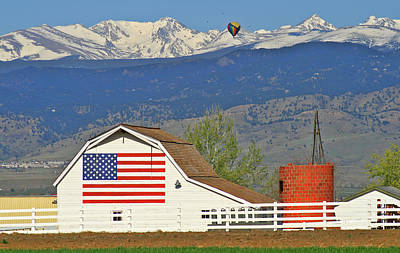 Photograph - Balloon Barn And Mountains by Scott Mahon