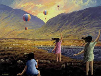 Balloon Children Art Print by Alan Kenny