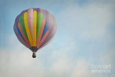 Photograph - Balloon Clouds Sky by Andrea Hazel Ihlefeld
