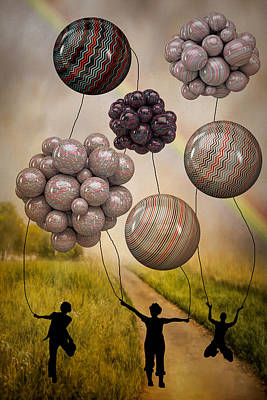 Digital Art - Balloon Contest - After The Storm by Ericamaxine Price
