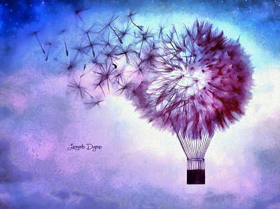 Heaven Digital Art - Balloon - Da by Leonardo Digenio