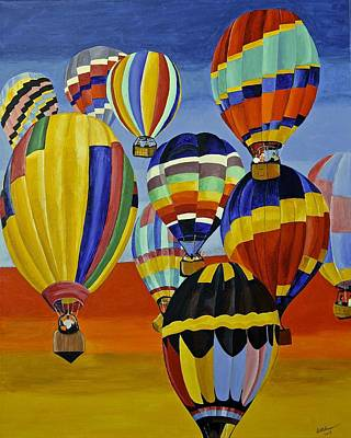 Painting - Balloon Expedition by Donna Blossom