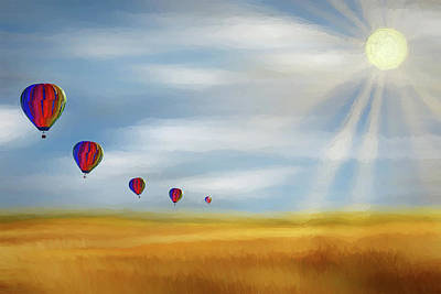 Digital Art - Balloon Fantasy Ap by Dan Carmichael