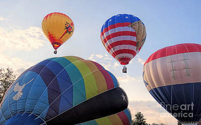 Photograph - Balloon Festival Lewiston Auburn Me by Janice Drew