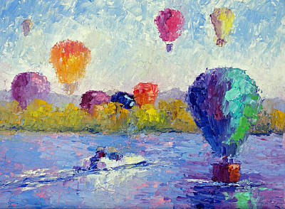 Balloon Festival  Art Print by Terry  Chacon