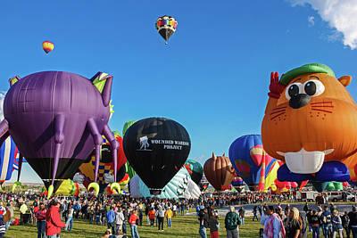 Photograph - Balloon Fiesta Albuquerque I by Lon Dittrick