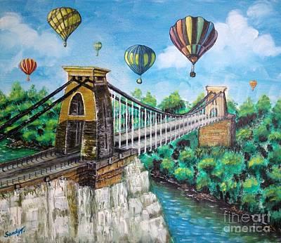 Balloon Fiesta Painting - Balloon Fiesta In Bristol, Uk by Jo lan Tao