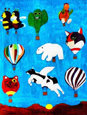 Painting - Balloon Fiesta by Joseph Frank Baraba