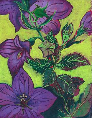 Balloon Flowers Art Print by Julia Garnett