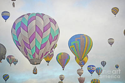 Photograph - Balloon Friends Sky by Andrea Hazel Ihlefeld