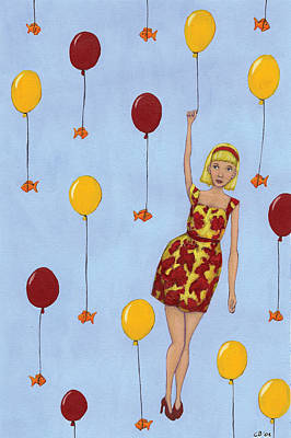 Painting - Balloon Girl by Christy Beckwith
