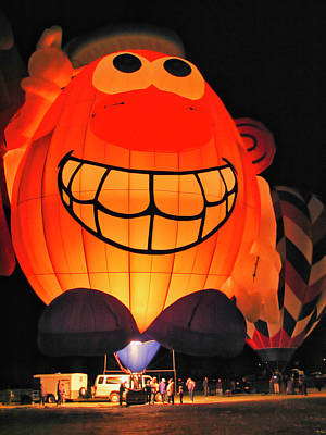 Photograph - Balloon Glow 2 - Socorro - Nm by Steven Ralser