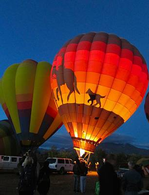 Photograph - Balloon Glow by Brenda Pressnall