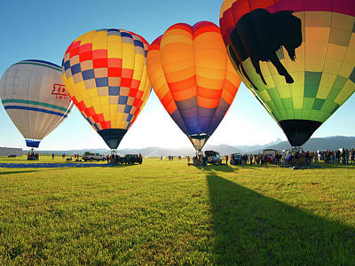 Festival Photograph - Balloon Glow by Leland D Howard