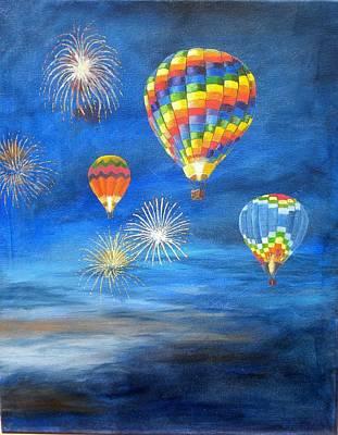 Balloon Glow Art Print by Marti Idlet