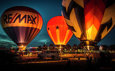 Fun Show Photograph - Balloon Glow by Marvin Spates