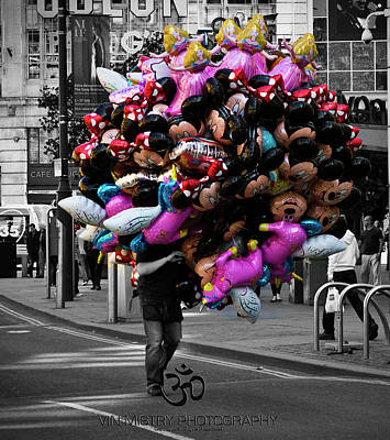 Manchester Photograph - Balloon Head by Vin Mistry