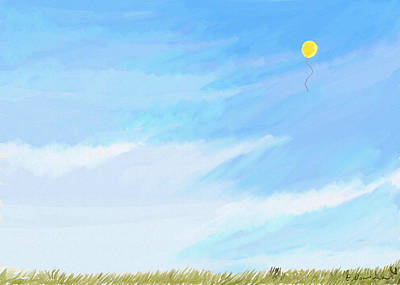Painting - Balloon In The Sky by Eliza Donovan