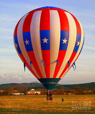 Balloon Landing Art Print by Deborah Benoit
