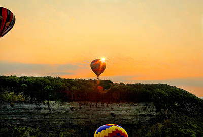 Photograph - Balloon Launch At Letchworth by Richard Engelbrecht