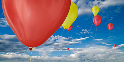 Balloons Photograph - Balloon Launch by Steve Gadomski