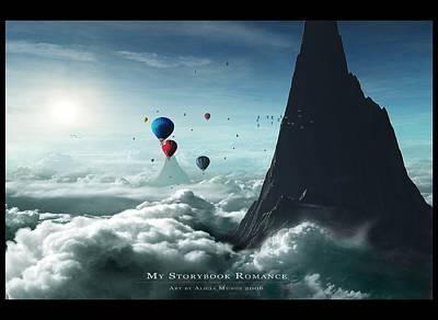 Landscapes Digital Art - Balloon by Maye Loeser