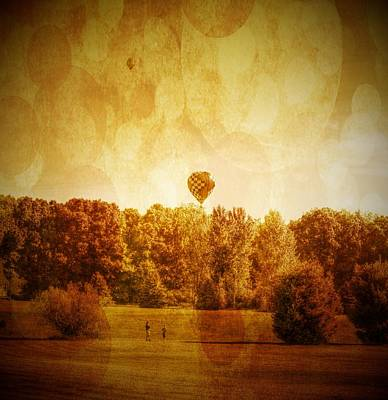 Children Playing Photograph - Balloon Nostalgia by Michael Garyet