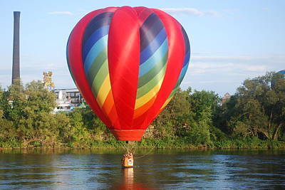 Balloon On The Water Art Print by Alan Holbrook