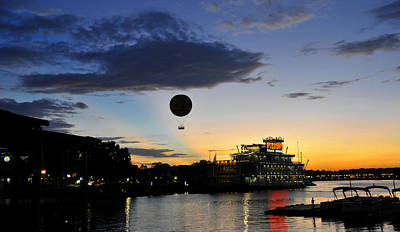 Photograph - Balloon Over Disney by David Lee Thompson