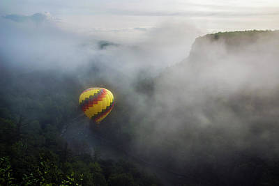 Photograph - Balloon Over Letchworth by Mark Papke
