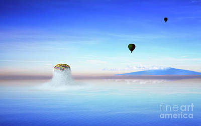 Photograph - Balloon Popping Out Of Ocean by Jan Brons