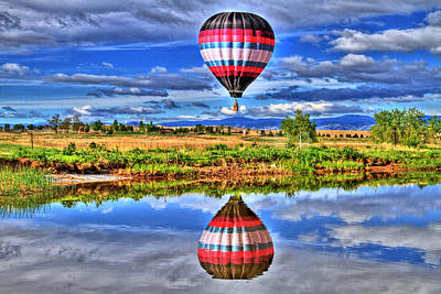 Photograph - Balloon Reflections by Scott Mahon
