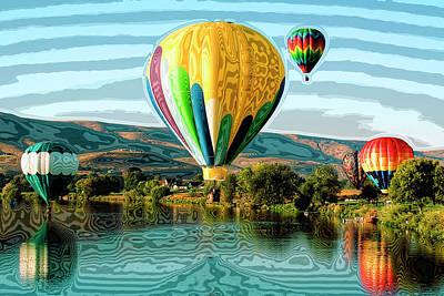 Balloons Photograph - Balloon Rides by David Patterson