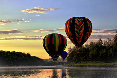 Balloon River Flight Art Print by Gary Smith