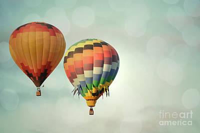 Photograph - Balloon Sky Pair by Andrea Hazel Ihlefeld