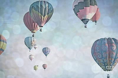 Photograph - Balloon Sky Pastel Bokeh Sky Landscape by Andrea Hazel Ihlefeld