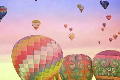 Photograph - Balloon Sunrise by Andrea Hazel Ihlefeld