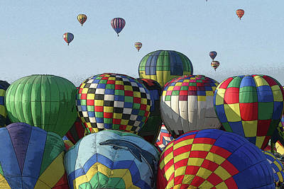 Art Print featuring the photograph Balloon Traffic Jam by Marie Leslie