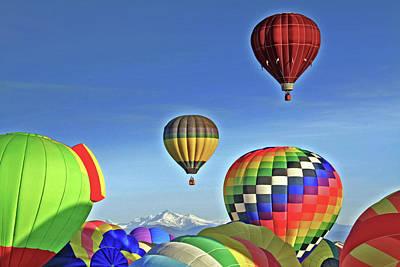 Ballooning Above Longs Peak Art Print by Scott Mahon