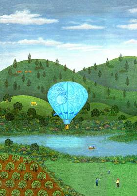 Hot Air Balloons Painting - Ballooning Eight One by Linda Mears