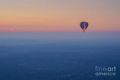 Photograph - Ballooning In The Haze by Ray Warren