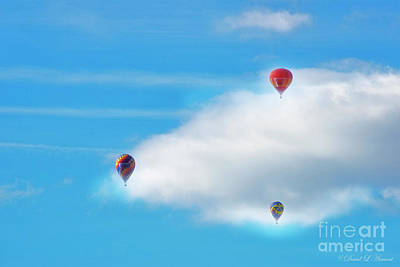 Photograph - Balloons And Clouds by David Arment