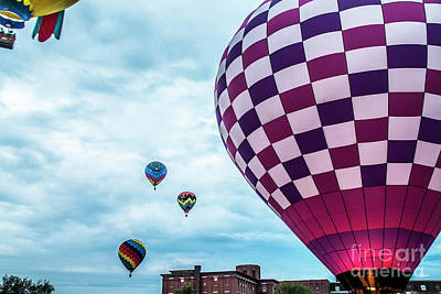 Photograph - Balloons Float Over Lewiston by Alana Ranney