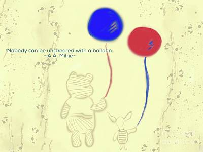 Photograph - Balloons For Pooh And Piglet by Susan Garren