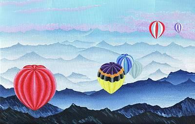 Wall Art - Painting - Balloons by Hayley Buchanan