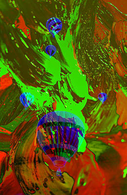 Merging Photograph - Balloons In The Air Abstract by Jeff Swan