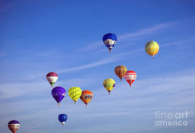 Photograph - Balloons In The Air by Milena Boeva