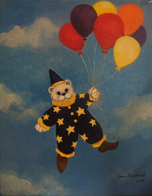 Painting - Balloons by Joan Barnard